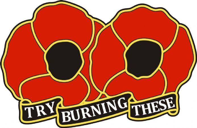 "Poppy Day Sticker for Lorry or Van XL Size - ""Try Burning These"""